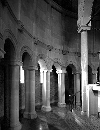 St Anne's interior columns in sanctuary-Max Dupain