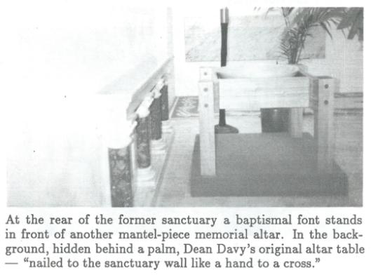 Dean Davey's altar
